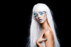 Femme sensuelle d'hiver Photographie stock libre de droits