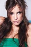 Femme sensuelle de brunette Images libres de droits