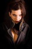 Femme sensuelle de verticale Photo libre de droits