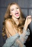 Femme sexuelle avec la gemme Photographie stock libre de droits