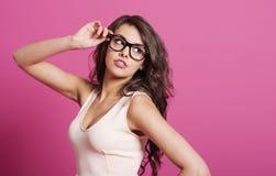Femme sexy avec des verres Image libre de droits