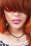 Femme sexy avec la coiffure fraîche dernier cri Images libres de droits