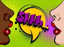 Femme sexy comique de bande dessinée d'art de bruit Images stock