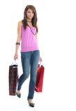 femme d'achats de sac Photographie stock libre de droits
