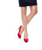 Femme sexy dans des talons hauts rouges Image libre de droits