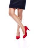 Femme sexy dans des talons hauts rouges Images libres de droits