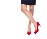 Femme sexy dans des talons hauts rouges Photographie stock