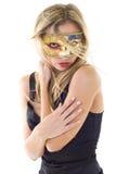 Femme sexy dans le masque de réception image libre de droits