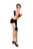 Femme sexy dans le soutien-gorge rouge photo libre de droits