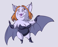 Femme sexy de 'bat' Photo libre de droits