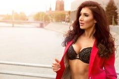 Femme sexy de brunette Photo libre de droits