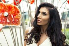 Femme sexy de brunette Photos stock