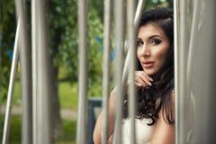 Femme sexy de brunette Photos libres de droits