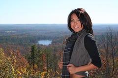 Femme de mode d'automne à l'extérieur Photographie stock