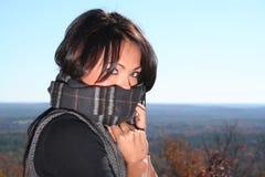 Femme sexy de mode d'automne à l'extérieur Images libres de droits