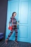 Femme sexy de style de mode de maquillage d'habillement de robe de beauté Photographie stock libre de droits