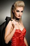 Femme sexy de vamp Photographie stock libre de droits