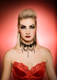 Femme sexy de vamp Photo stock