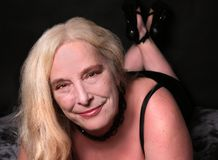 Femme sexy en ses mi années '50 Images libres de droits