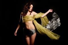 Femme en soie Photos libres de droits