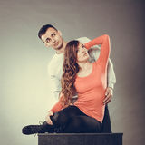 femme sexy et homme bel Couples sensuels Photographie stock libre de droits