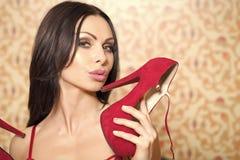 Femme sexy sensuelle Portrait de femme érotique images stock