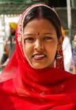 Femme sikh de sourire de l'Inde Images libres de droits