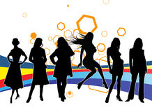 Femme Silhouttes Photo stock