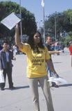 Femme sollicitant des électeurs, Los Angeles, la Californie photos stock