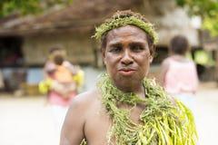 Femme Solomon Islands de villageois Photographie stock libre de droits