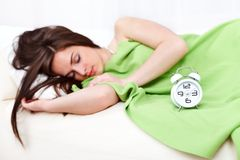 Femme somnolente Photo libre de droits