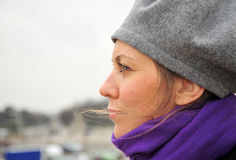 Femme songeur Photos libres de droits