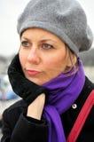 Femme songeur Photographie stock libre de droits