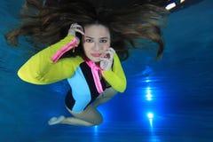 Femme sous-marin Photographie stock libre de droits