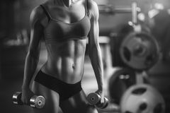 Femme sportif Photographie stock