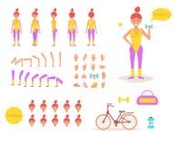 Femme sportive pour l'animation Photographie stock