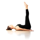 Femme streching Images stock