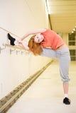 femme streching Photographie stock libre de droits
