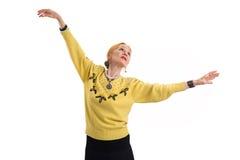 Femme supérieure de danse d'isolement Photo stock