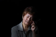 Femme supérieure en douleur Photos libres de droits
