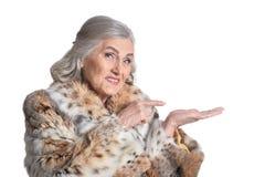 Femme supérieure en fourrure Images libres de droits