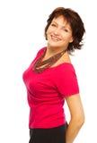 Femme supérieure heureuse Photographie stock libre de droits