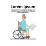 Femme supérieure sur Madame de grand-mère de fauteuil roulant illustration libre de droits