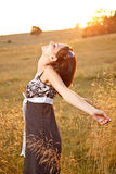 Femme sur la nature Photographie stock