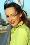 Femme sur la passerelle Photographie stock libre de droits