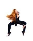 Femme sur la pointe des pieds Image libre de droits