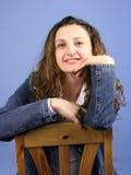 Femme sur le bleu IV Photographie stock libre de droits