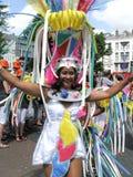 Femme sur le défilé carnaval Image libre de droits