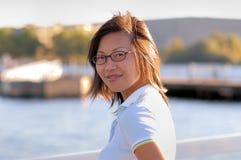 Femme sur le dock no.2 photo stock