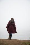 Femme sur le lac photos libres de droits